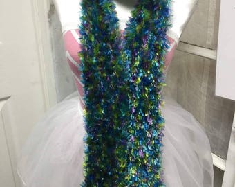 Mermaid colors fluffly scarf
