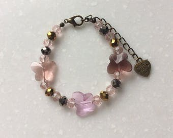 Bracelet for girl with butterflies