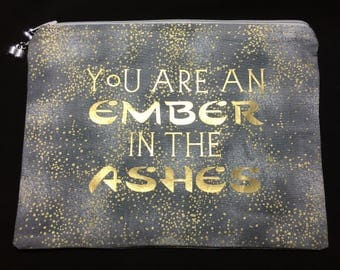 Ember in the Ashes Zipper Pouch