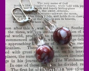 Blood Moon Rising Earrings in Glass and Acrylic