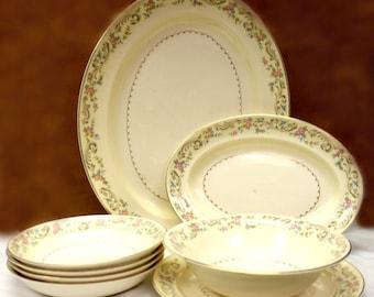 The Paden City Pottery Co. Duchess, Dish Set, 8 Pieces, 1948