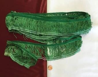 Vintage Green Fringe