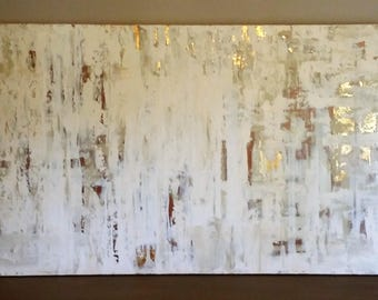 "48x30 ""Gatsby Gold"" Original abstract acrylic painting"
