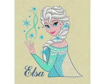 Elsa Embroidery Design, Frozen Embroidery Design, Disney Princess Embroidery Design, Baby Embroidery Design, Girl embroidery design