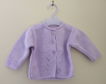 Baby Girls Lilac Cardigan