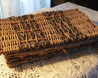 Handwoven Covered Basket