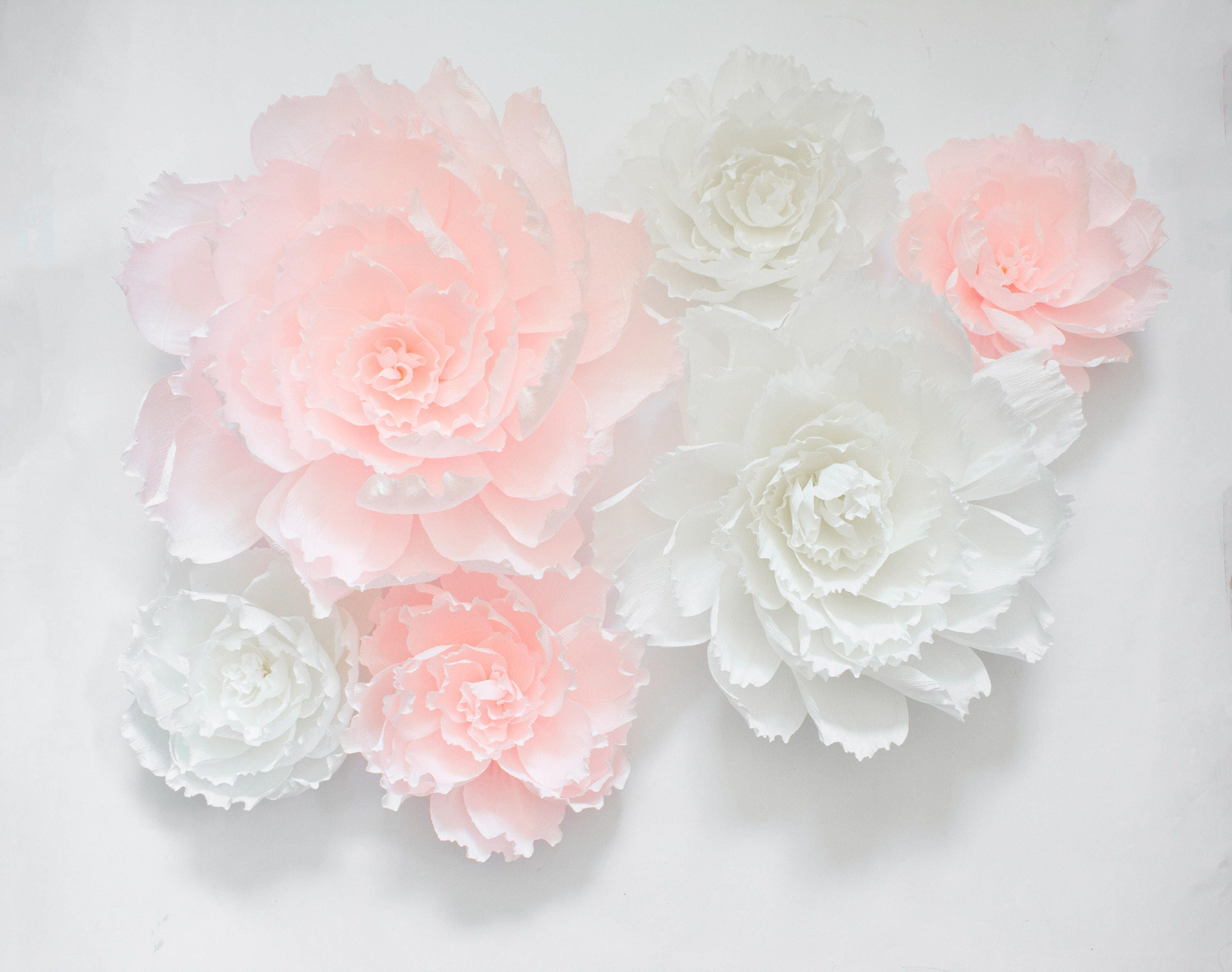 big pink arch fullxfull room paper flowers decor girl nursery rose flower baby shower backdrop hanging il wall crepe wedding p kywb