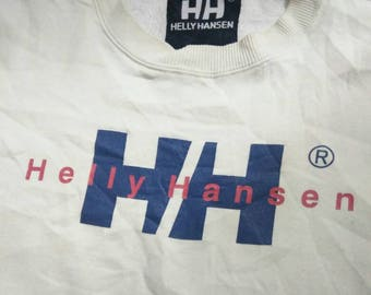 Vintage Brand Helly Hansen Big Logo Spellout Sweatshirt White Color
