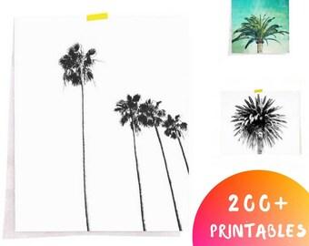 Minimalist Tree Print, Minimalist Palm Print, Palm Tree Print, California Print, Palm Print, Minimalist Decor Printable, Minimal Print