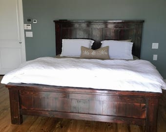 Solid Wood Farmhouse Bed