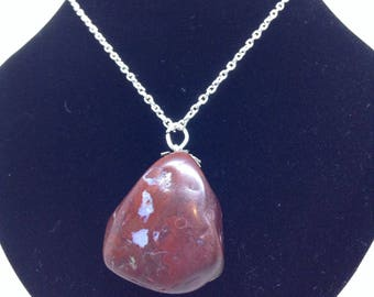 Tumbled Rock Pendant- Red