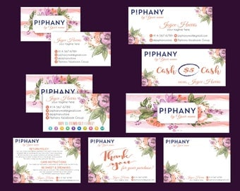 SALE!! Piphany Marketing Kit, P!phany Marketing Bundle, Personalized Consultant Piphany Marketing Kit, Water color card, Printable Card TP02