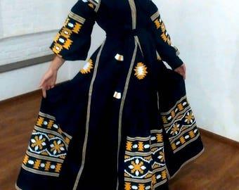 Embroidered Dress Ukrainian Embroidery Boho Style Ukrainian Clothing Boho Chic Dress