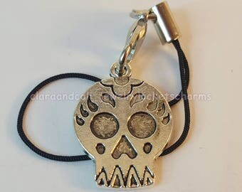 Sugar Skull *Dangle Charm for Cell Phone*Purse*Backpack*