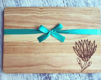 Protea wooden Chopping board