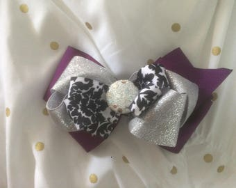 The Layered Sparkly Purple bow