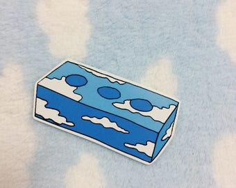 Blue Sky Brick Sticker
