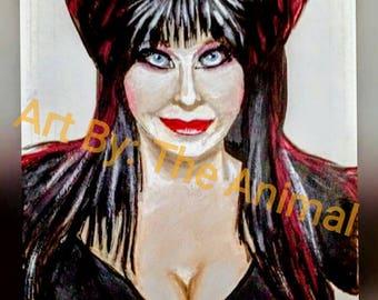 Original Elvira Mistress of the dark painting