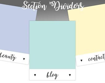 Colorful Section Dividers