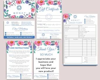 Sales!! Monat Mini Kit, Custom Monat Business Card, Monat Hair Care, Monat Global, Monat starter Pack, Printable Card MN05