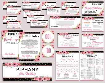 Piphany Marketing Kit, Piphany Bundle, Custom Piphany Package, PERSONALIZED Piphany Cards, Piphany Floral Flower Cards, Digital files PP07