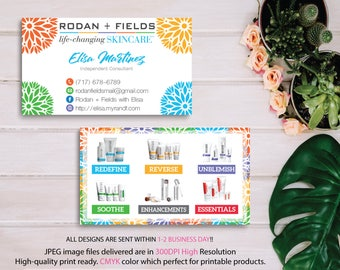 Rodan and Fields Business Card, RF business Card, Rodan and Fields Marketing, Custom Business Card, R+F PERSONALIZED, Digital files RF09