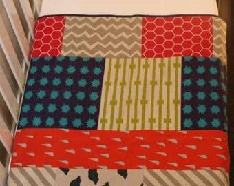 Modern whole cloth quilt