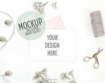 Card mockup, Styled stock photo, Stock photography, Quote mockup, Invitation mockup, White card mockup, Greeting card, Art mockup, Design
