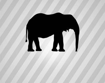 Elephant Silhouette African Bush - Svg Dxf Eps Silhouette Rld RDWorks Pdf Png AI Files Digital Cut Vector File Svg File Cricut Laser Cut