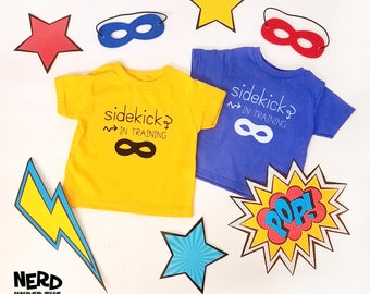 Sidekick In Training Kids T-shirt, Superhero Kids Shirt, Toddler Sidekick Shirt, Custom Youth Tees, Custom Toddler T-Shirts, Marvel DC