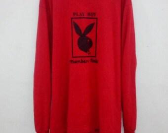 Rare!! Vintage 90s Playboy Members Only Longsleeve Shirt