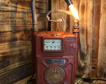 1950's Belfast Corporation Gas Meter - A Table Lamp with Bundles of Character and Charm