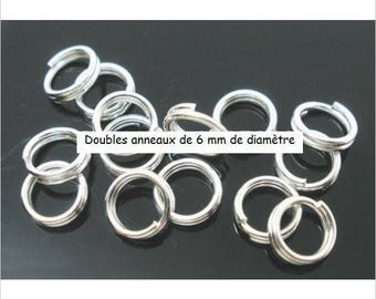 4 double silver rings silver 6 mm round findings jewelry creations