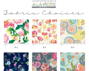 Applique Fabric Choices [do not purchase]