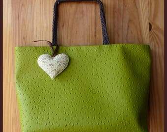 """Vive le Printemps"" lime green ostrich leather handbag"