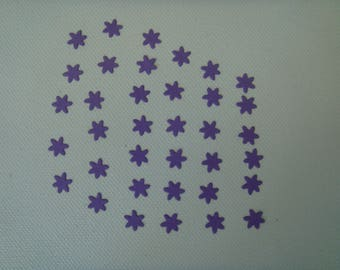 Cuts set of 36 mini purple design for creating paper flowers