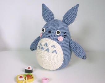 My Neighbor Totoro crochet blue grey