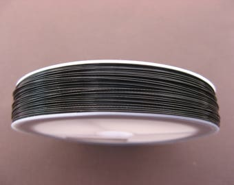 3 m cable wire-wrapped black 0.45 mm
