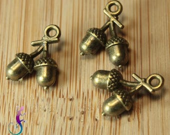 25 charms charms bronze metal tassels