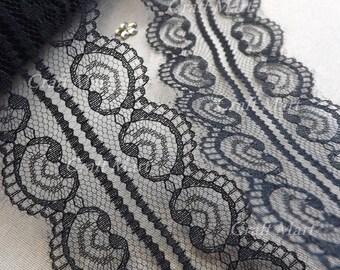 2 m 50 mm wide Black Lace