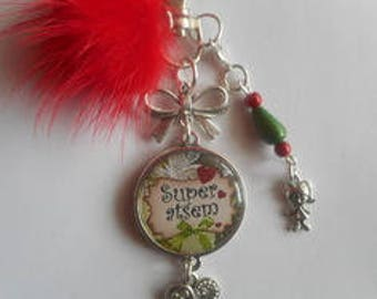 """Bag charm, door keys/home / """"thank you home"""" / year end gift/party / thanks/Christmas/birthday"""