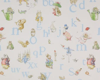 Fabric, alphabet, Beatrix potter