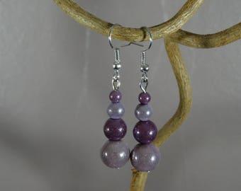Earrings - magical - purple - miracle beads
