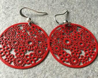 Gypsy earrings Red