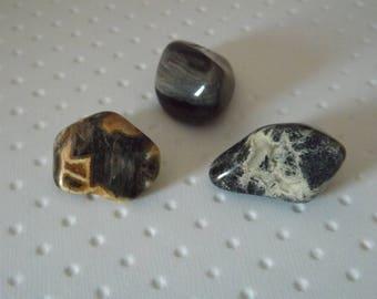 Jaspe Feuille d'argent - Lot 3   pierres naturelles