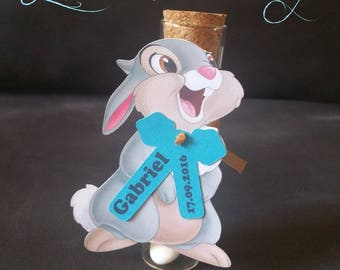 Thumper for containing sweets tags