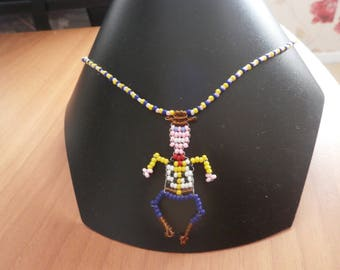 """Necklace """"cowboy"""" style of beads for children."""
