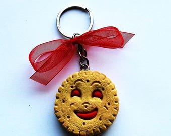 bn Strawberry polymer clay keychain