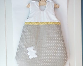 Sleeping bag-sleeping bag taupe, yellow, white, 0/6 month winter