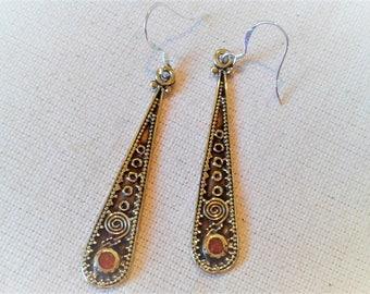 Long ethnic earrings